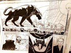 Black Panther #2 Original Art - 1st Shuri Original Art by John Romita Jr and Klaus Janson and Reggie Hudlin Spread