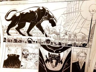 Black Panther #2 Original Art - 1st Shuri Original Art by John Romita Jr and Klaus Janson and Reggie Hudlin Spread