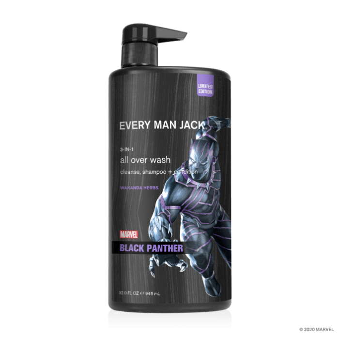 marvel grooming products black panther all over wash