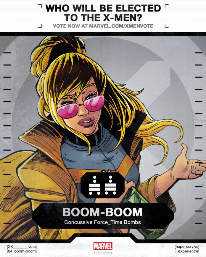 Boom-Boom X-Men Vote Poster