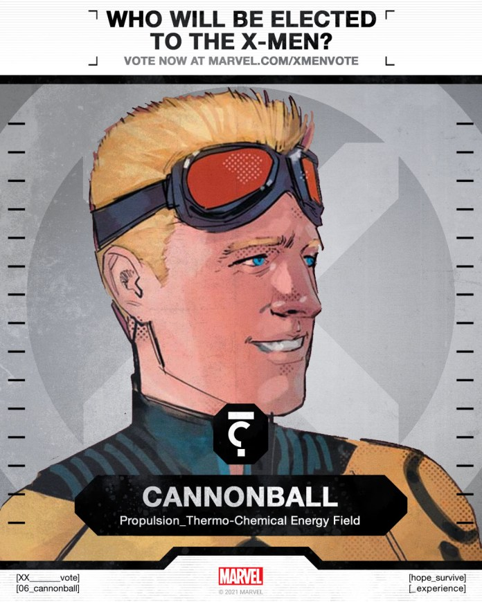 Cannonball X-Men Vote Poster