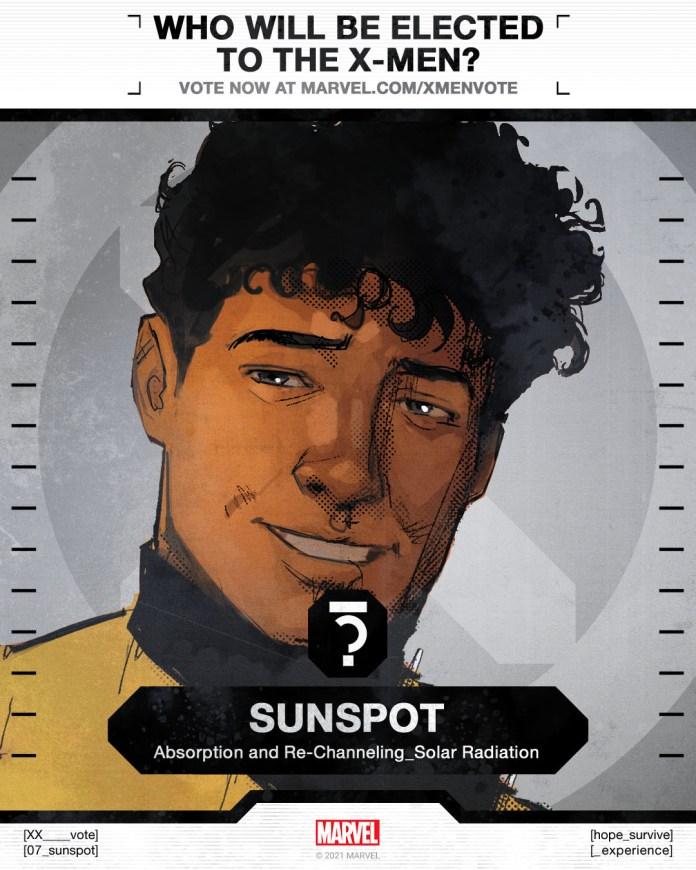 Sunspot X-Men Vote Poster