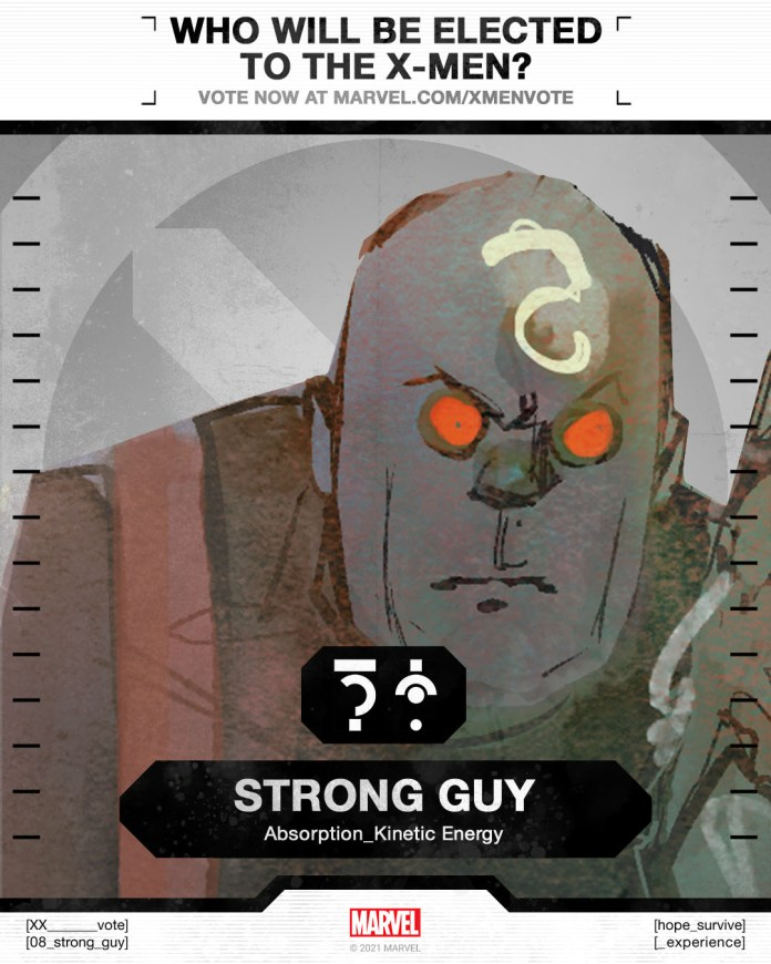 Strong Guy X-Men Vote Poster