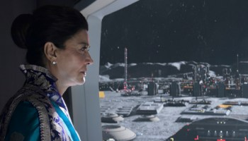 "Chrisjen Avasarala (Shohreh Aghdashloo) ponders the future of her planet in ""Winnipesaukee"""