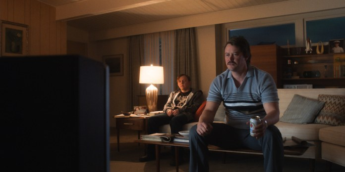"""Gordo Stevens (Michael Dorman) stares at the TV in """"Every Little Thing"""""""