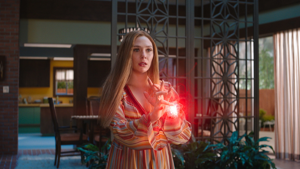 Wanda Maximoff (Elizabeth Olson) creates the WandaVision problem