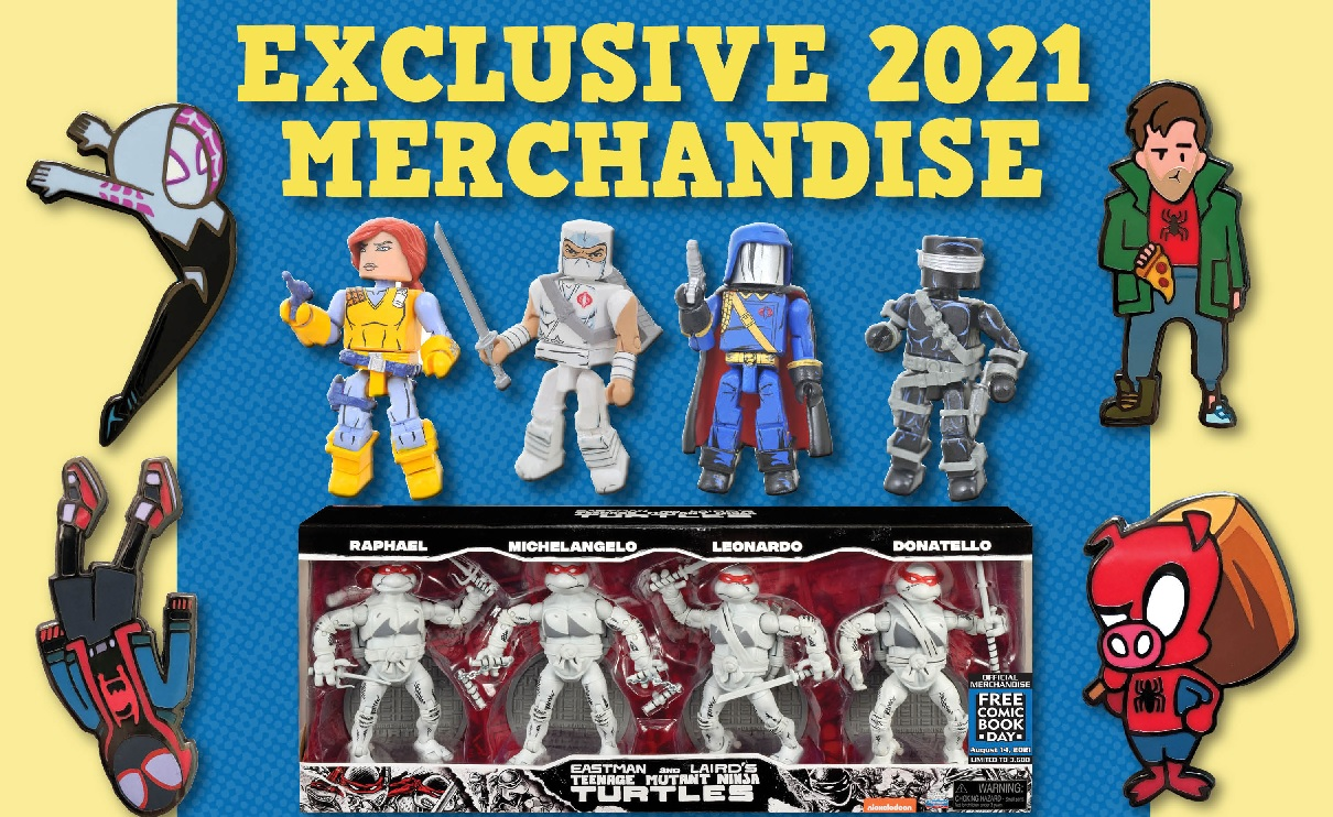 Free Comic Book Day 2021 exclusive merchandise