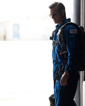 "Ed Baldwin (Joel Kinnaman) gets ready to fly in ""Pathfinder"""