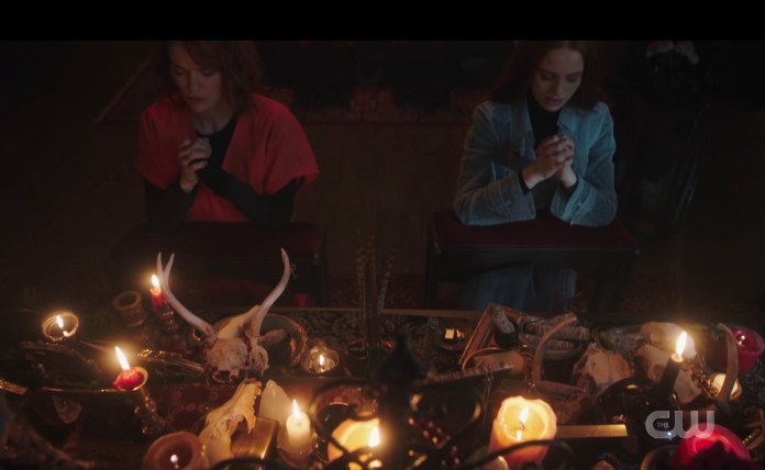 The creepy Blossom family altar on Riverdale