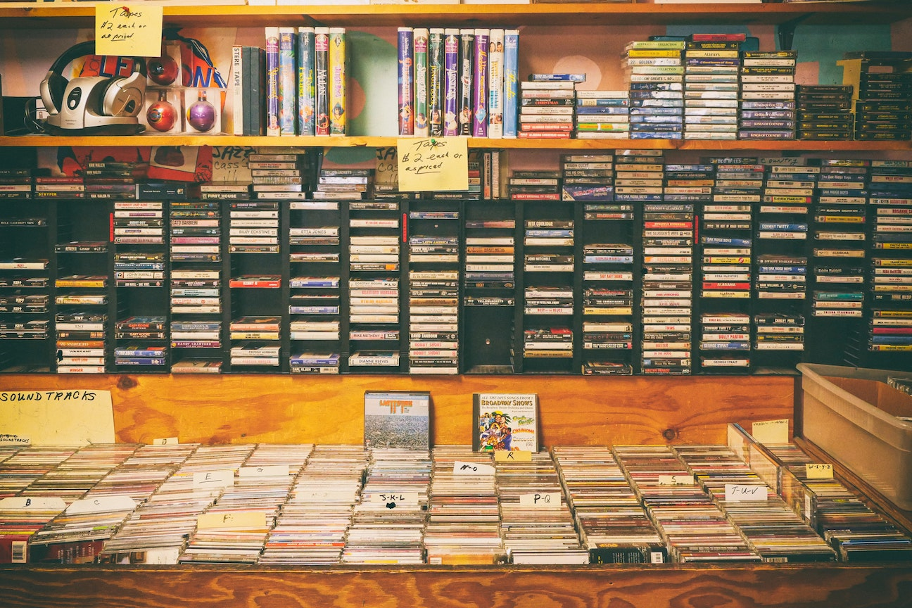 Physical media can be found from cassette tapes to VHSs to DVDs and Blu-Rays