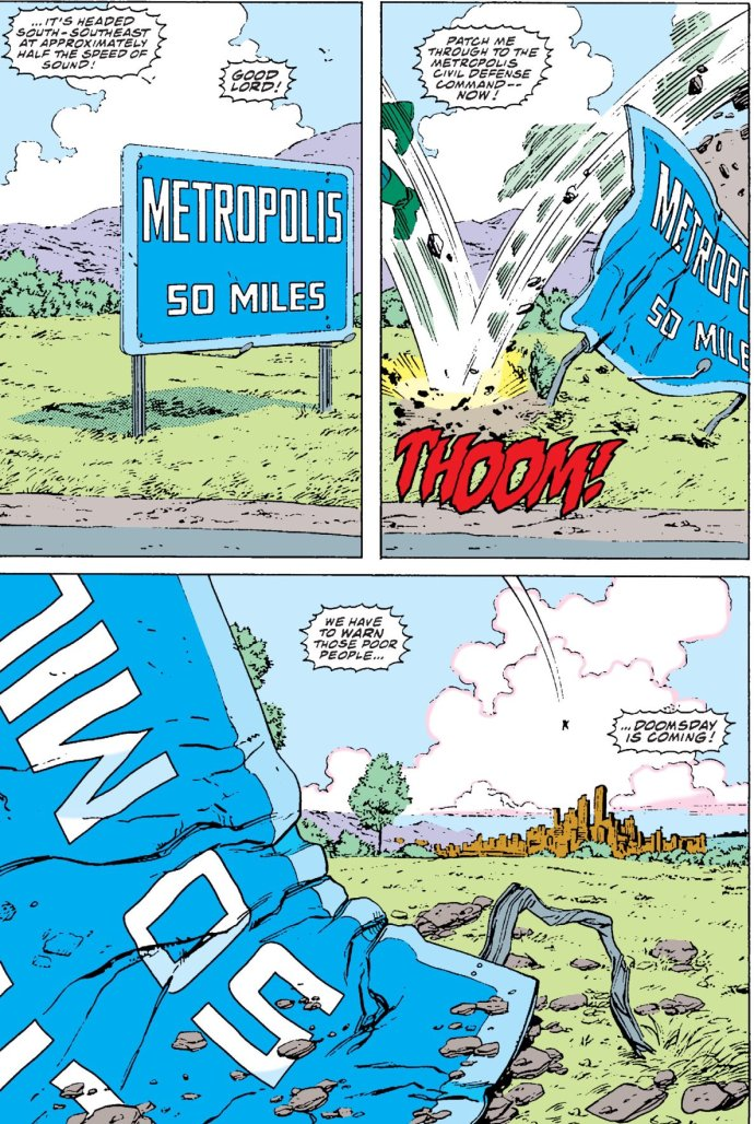 Doomsday reaches Metropolis in Action Comics #684