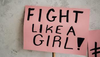 Women-centered media = fighting like a girl