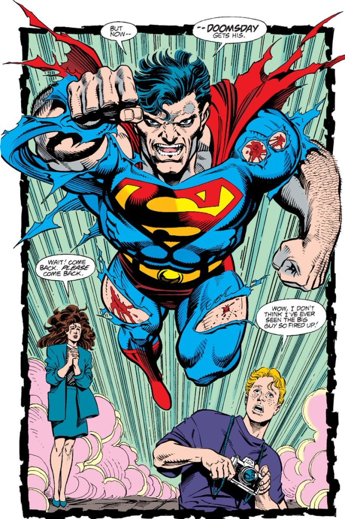 Superman hell bent on Stopping Doomsday in Superman #75