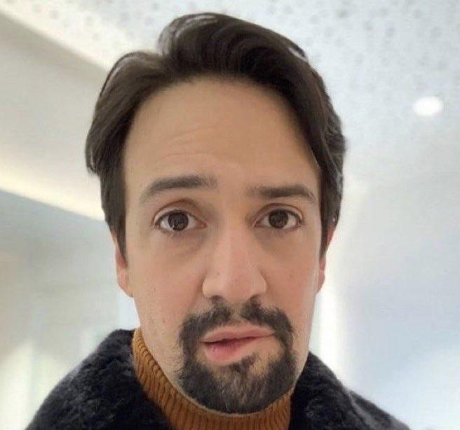 Lin-Manuel Miranda, king of the cringe lip biting meme
