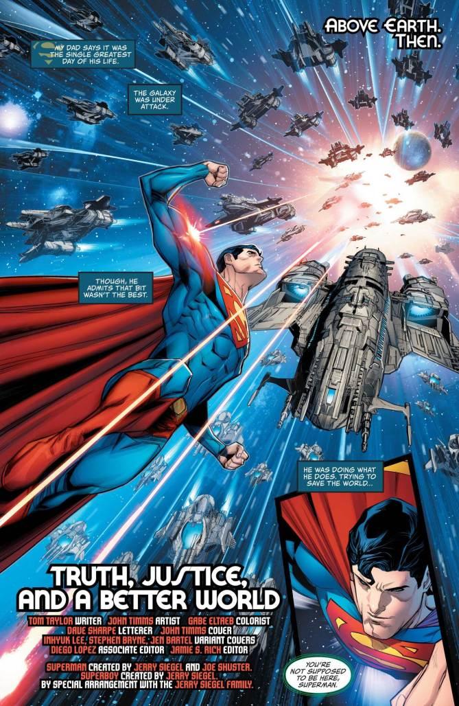 Superman: Son of Kal-El #1  page 1