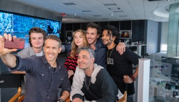 The FREE GUY cast and its director are all smiles
