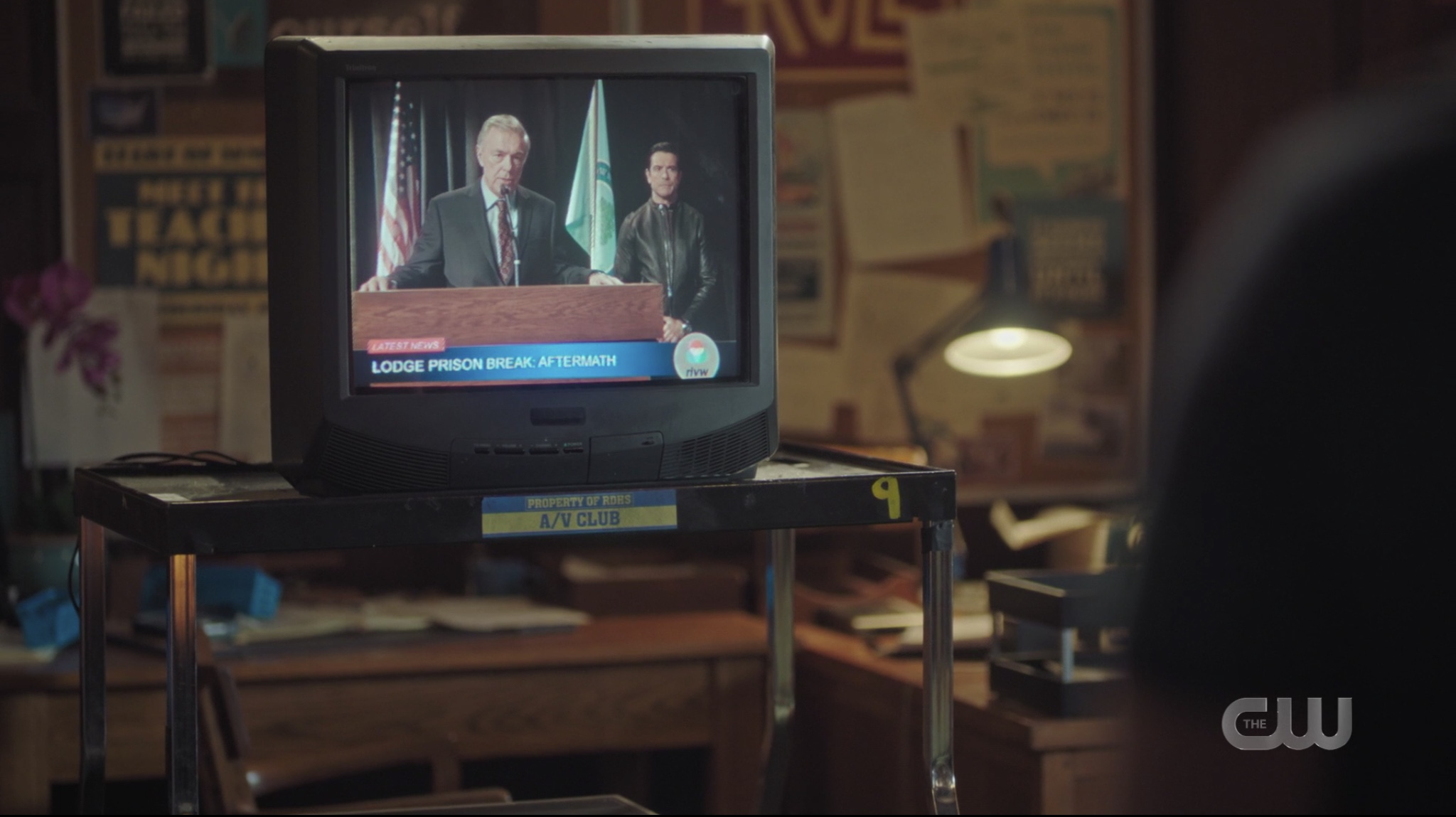 Governor Dooley and Hiram Lodge discuss the town formerly known as Riverdale