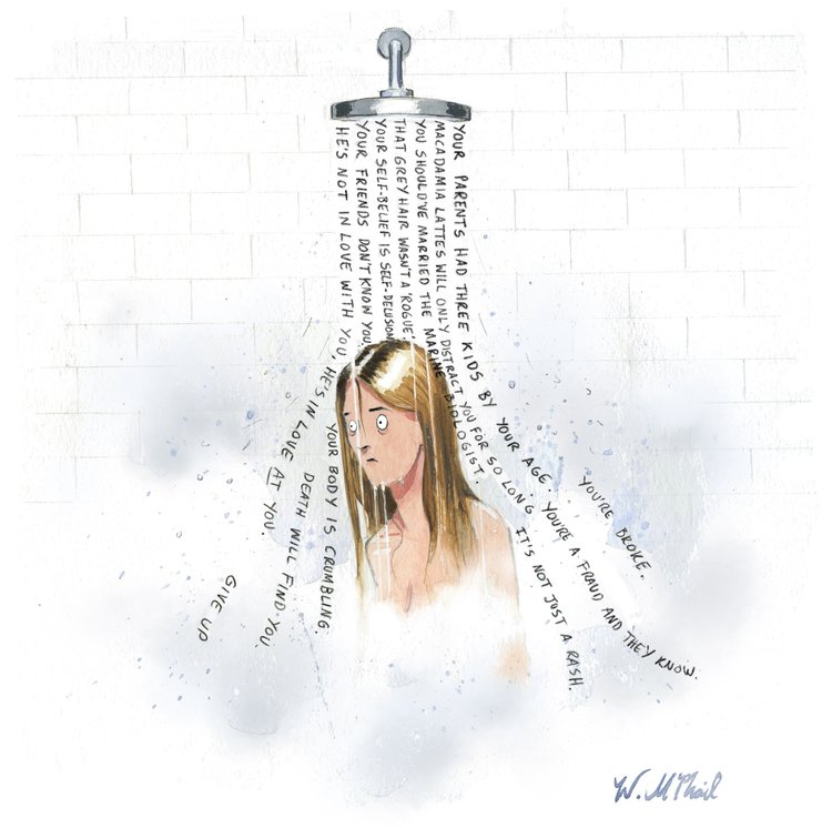 McPhail cartoon shower Private Eye