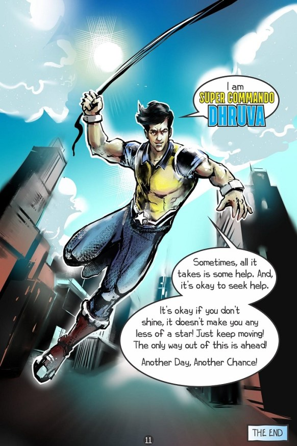 Raj Comics - Super Commando Dhruv - The Struggle With Depression