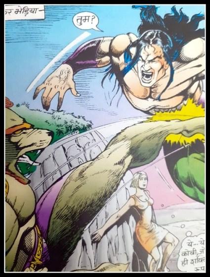 कोबी और भेड़िया - एक्शन - राज कॉमिक्स