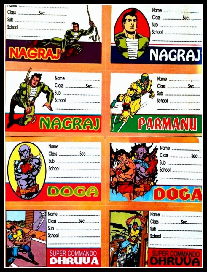 Name slips - Raj Comics Novelty