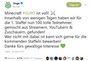 Minecraft SURO geht bald los! - Alle 100 Spieler dabei - SURO NEWS 2