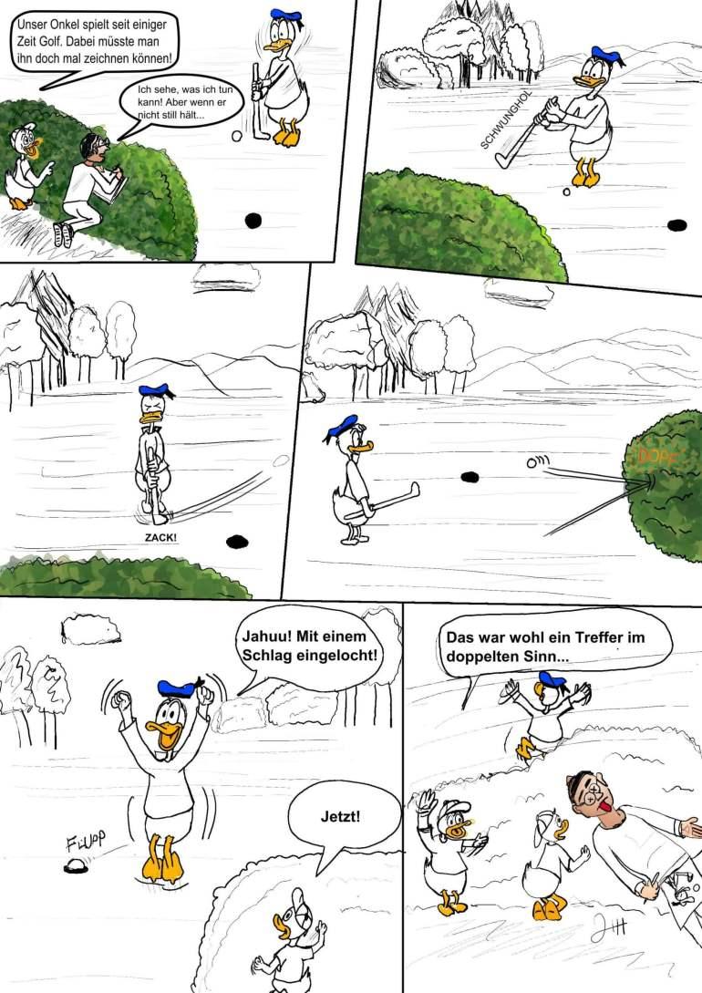 Hinter den Kulissen: Nachruf & Golfball 5