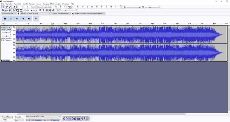 Gesang aus einem Song isolieren in Audacity - So geht's 2