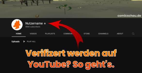 Verifiziert werden auf YouTube - So geht's 1
