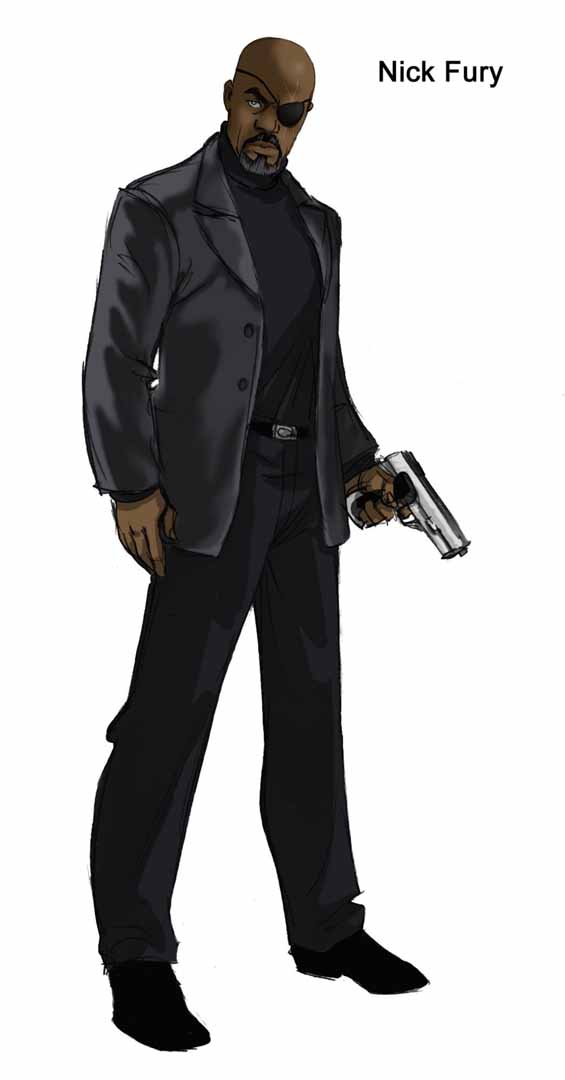 nick fury avengers coloring pages just the nick fury and black
