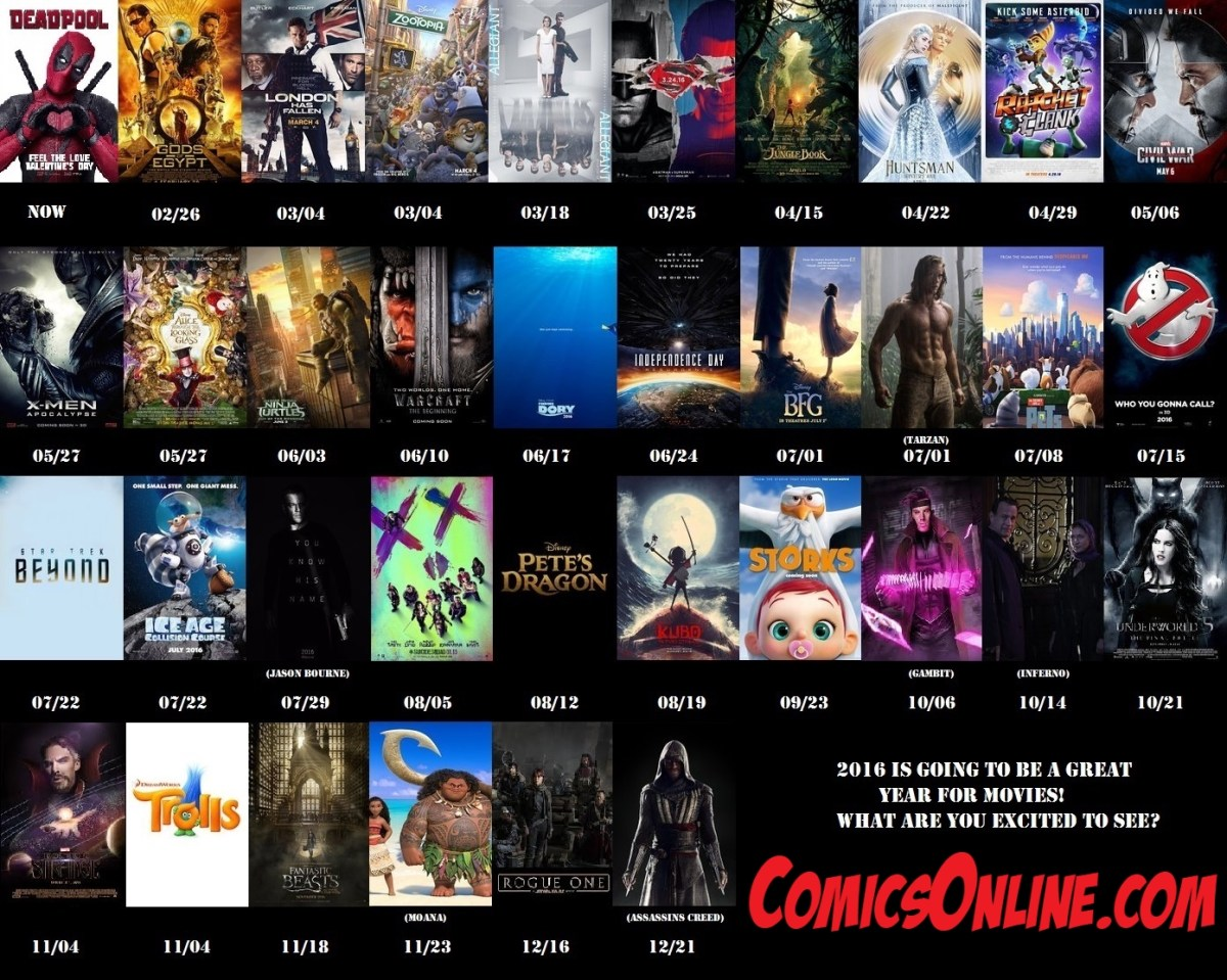 2016: A Holy Year for Geekdom Movies
