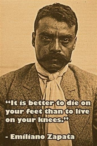 emiliano zapata photo quote poster it is better to die on