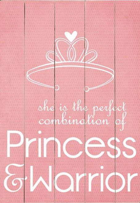 princess warrior quote wall art for the little