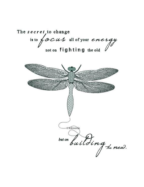 printable artwork dragonfly illustration typography art