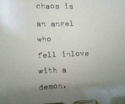 fell in love with the chaos quotes tumblr