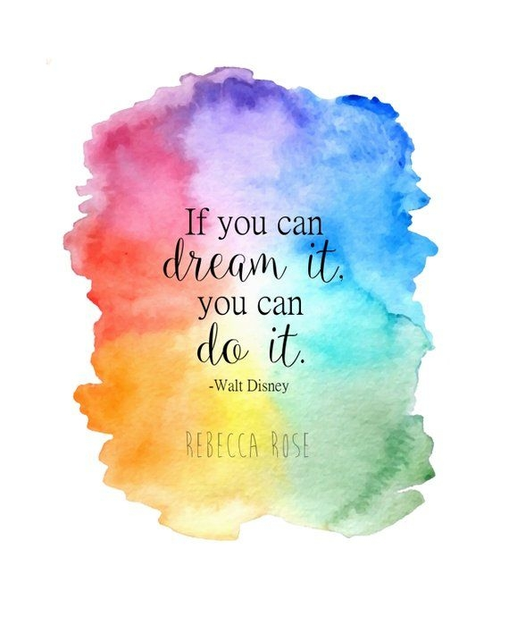 watercolor disney print inspirational quote print if you