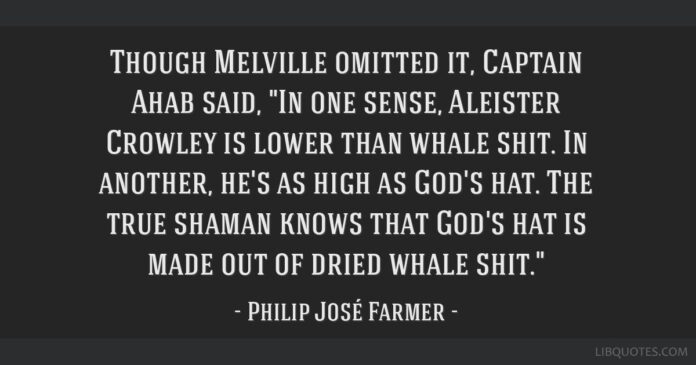 though melville omitted it captain ahab said in one sense