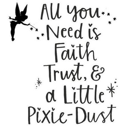 tinkerbell quote design only gute sprche leben