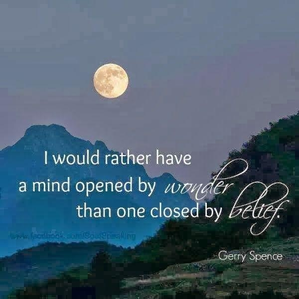i would rather have a mind opened wonder than one closed