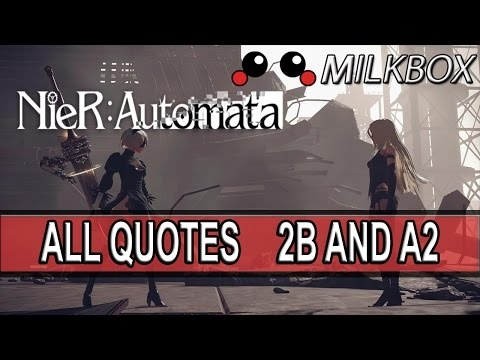 nier automata 2b and a2 quotes part 1 youtube