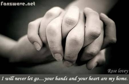 romantic quotes holding hands