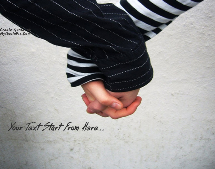 write quote on holding hand picture