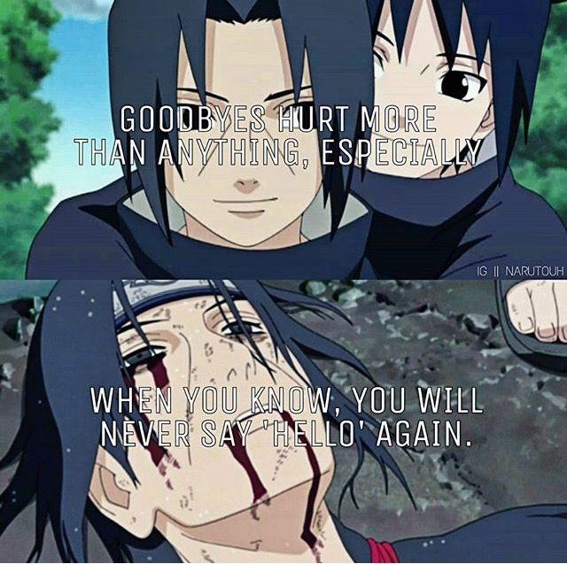 animemanga quote itachi and sasuke uchiha naruto sprche