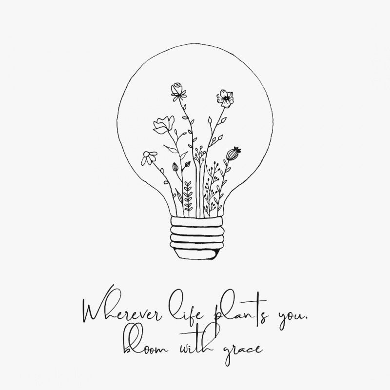 vsco quotes for smiles bloom quotes hand art plant