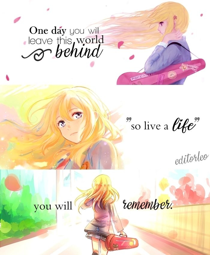 your lie in april quotes anime zitate anime und sprche