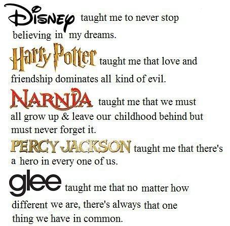 disney harry potter narnia percy jackson glee quotes