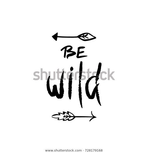 be wild inspirational quote about freedom stock vektorgrafik
