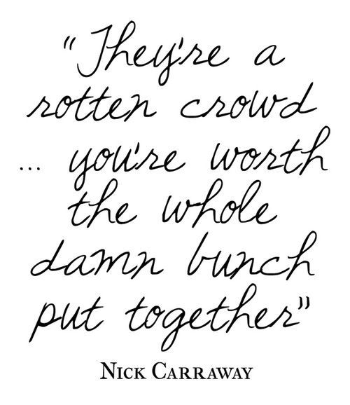 great nick carraway quotes gats quotes great gats