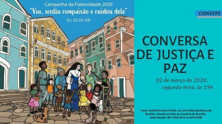Participe da 1ª Conversa de Justiça e Paz – 2020