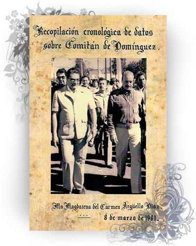 portada del libro recopilacion cronologica comitan